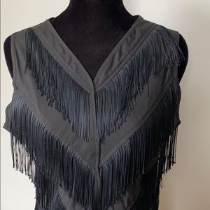 Western collection fringed top